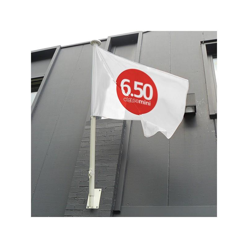 Mat de façade blanc diamètre 60 mm