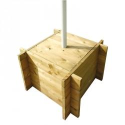 Caisse en bois pour mât diamètre 60 mm