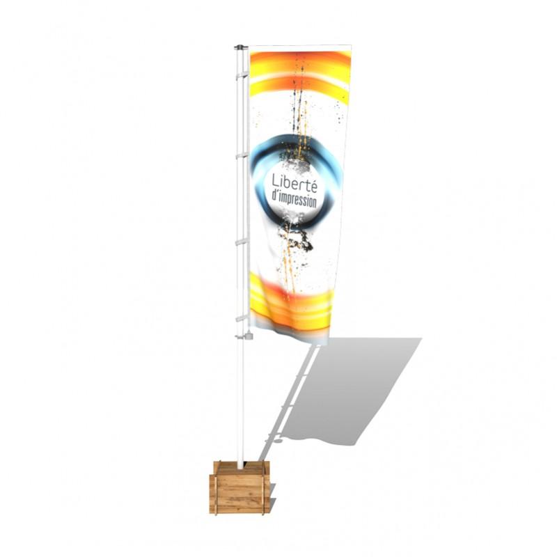 Mât mobile polyéco à potence, en fibre de verre
