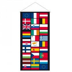 Kakémono multinations Europe comprenant les 28 pays + 2 CEE