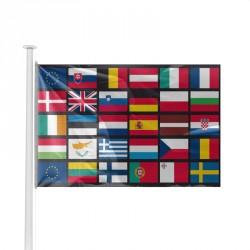 Pavillon multinations Europe comprenant les 28 pays +2 CEE