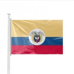 Drapeau pays COLOMBIE avec écusson