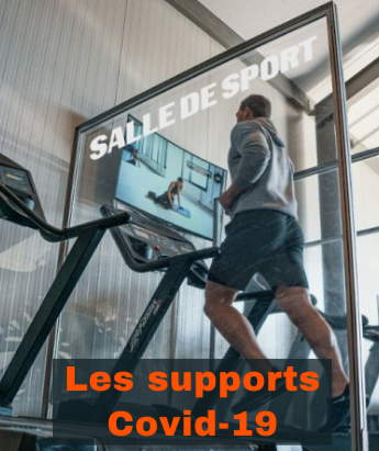 Support publicitaire personnalisable Les supports Covid-19