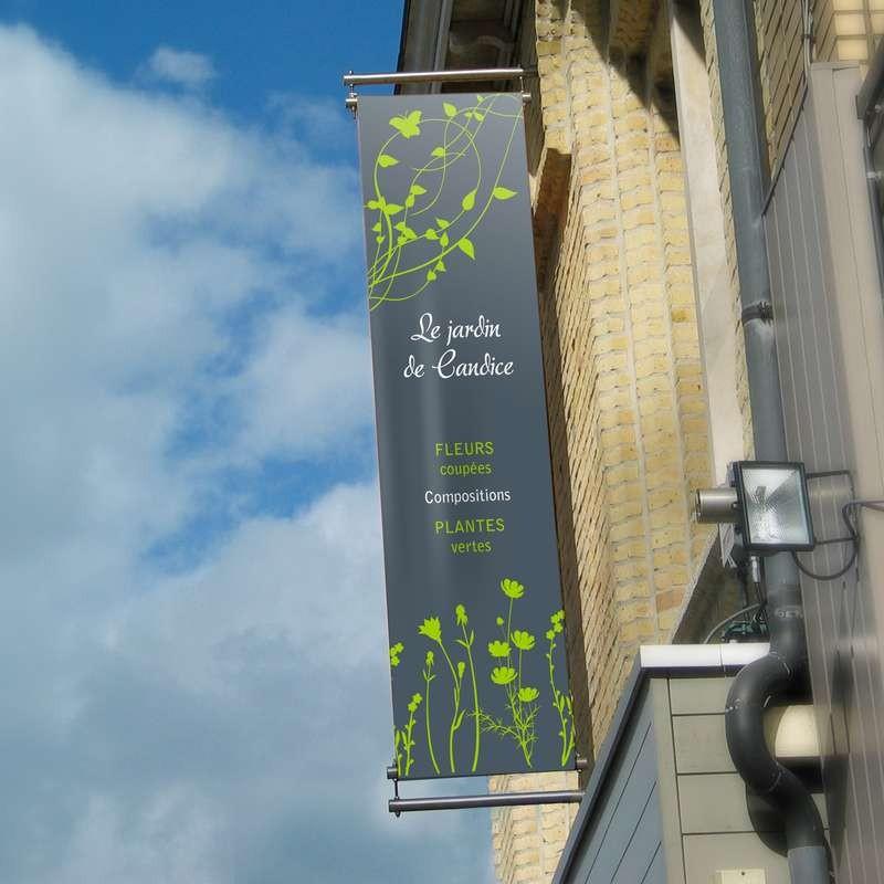 Eurotendeur pour fixation murale perpendiculaire à la façade