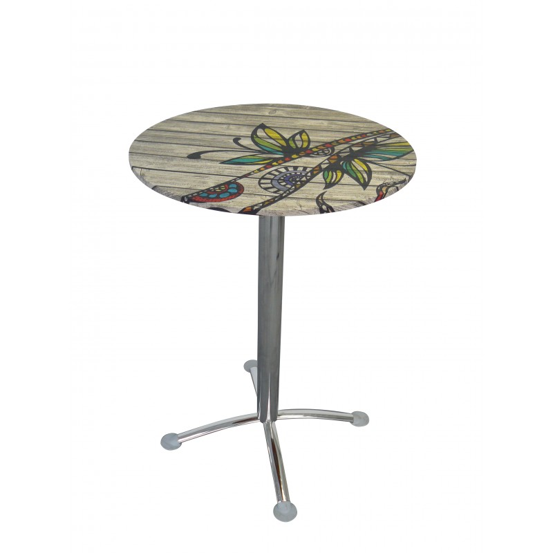 Table personnalisée BRASILIA, modèle rond