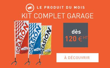 Drapeau de voiture avec texte occasion pour la publicit for Plv garage automobile